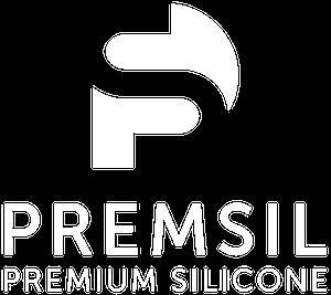 premium silicone logo white